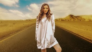 Vanilla Palm Films Island Clothing - Beige Long Sleeve Dress - Model/Songwriter Brooke Michelle...