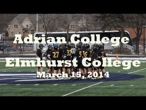 Adrian College Lacrosse @ Elmhurst College (Full Game Highlights)