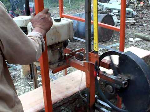 Home Made Elecrric Wood Saw Mill
