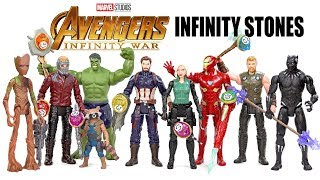 """Every Avengers Infinity War 6"""" Figures w/ Captain America Iron Man Black Panther + Infinity Stones"""