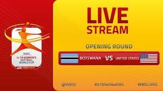 Botswana v USA - U-19 Women's Softball World Cup 2019 - Opening Round