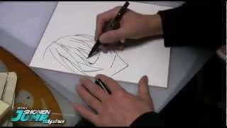 Desenhando Muto Ashirogi de Bakuman, por Takeshi Obata