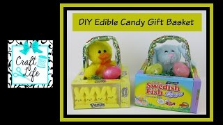 Craft Life ~ Jacy and Kacy DIY ~ Edible Candy Gift Basket ~ Easter Basket Tutorial