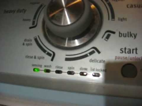Whirlpool washing machine_ lock light flashing_ nothing else