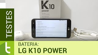 Autonomia do LG K10 Power | Teste oficial de bateria do TudoCelular
