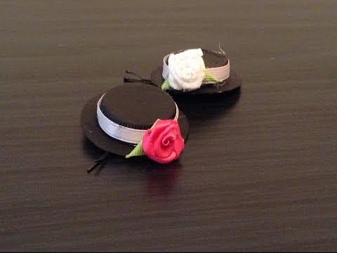 DIY : Tiny Hat Bobby Pin - Recycle