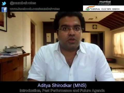 Aditya Shirodkar (maharashtra Navnirman Sena)  - Mumbai Votes video