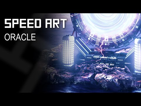 Photoshop & Blender: SPEED ART - Oracle