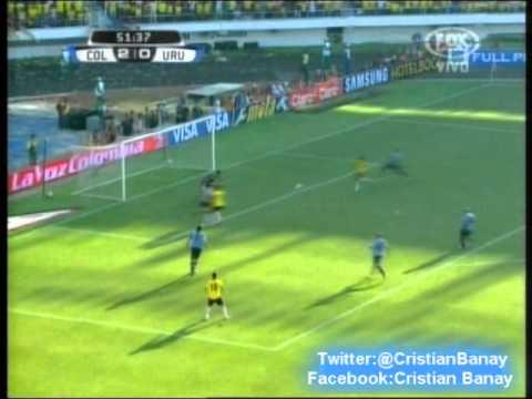 Colombia 4 Uruguay 0  (Audio Radio Caracol) Eliminatorias Brasil 2014 Los goles. (7/9/2012)