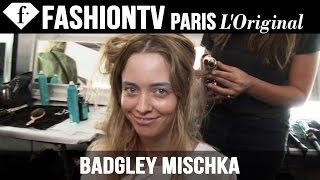 Badgley Mischka Spring 2015 Hair & Makeup | New York Fashion Week NYFW | FashionTV
