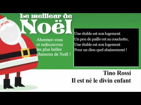 Tino Rossi - Il est né le Divin Enfant - Paroles (Lyrics)