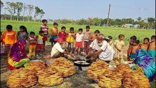Transformation of Bengal Gram Flour - Traditional Crispy Jhuri Vaja Making By Old Grandpa