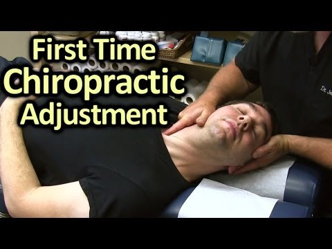 First Time Chiropractor Neck & Back Adjustment Demonstration By Austin Chiropractic Care video