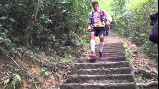HK100 Ultra Trail 2016 - Pau Capell Gil arrives at Checkpoint 8
