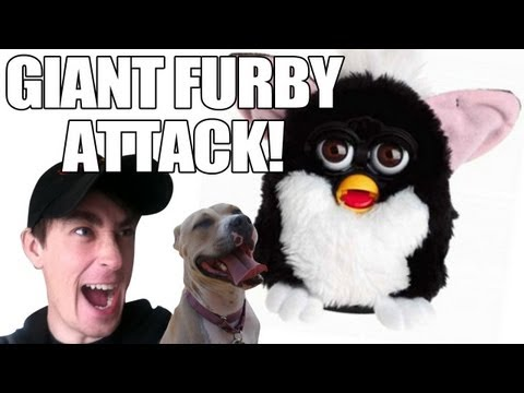 Giant Furby Attack! - DANEBOEVLOG
