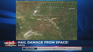 Central SD Hail Damage Can Be Seen From Space