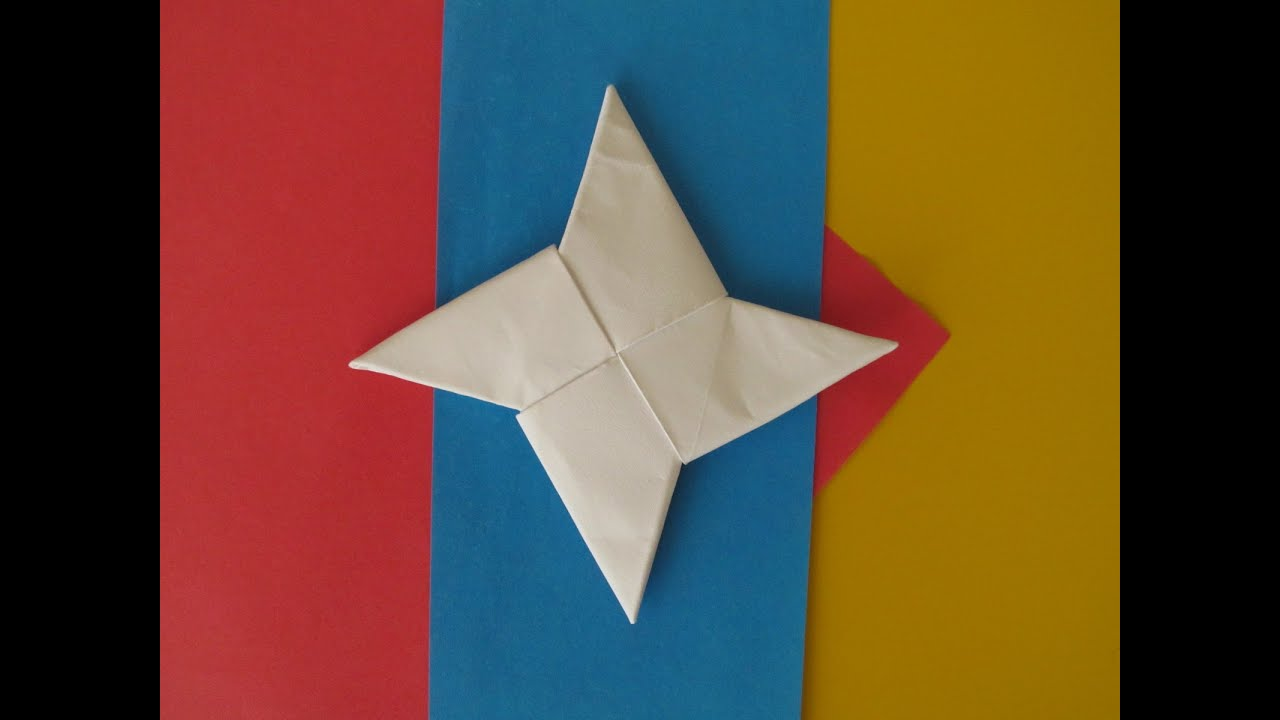 How to Make an Origami Ninja Star  Origami Instructions