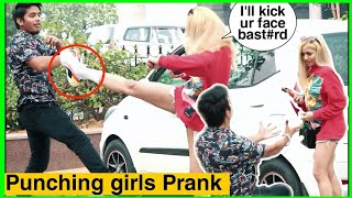 PUNCHING CUTE GIRL'S PRANK | SCARY PUNCH PRANK IN INDIA | KARAN KOTNALA | PRANKS IN INDIA