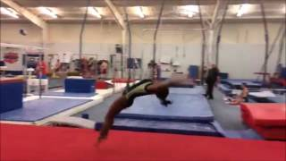 Simone Biles Trying Triple Twisting Double Tuck