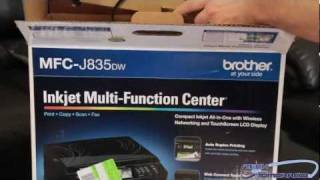 Brother MFC-J835DW Compact Inkjet All-In-One Printer Unboxing