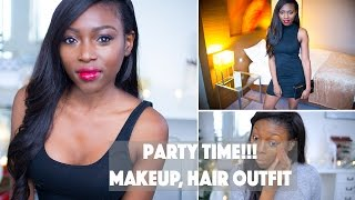 PARTY TIME & NEW YEARS EVE LOOK!!! | MAKEUP, HAIR AND OUTFITS XXX