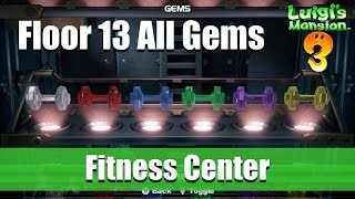 Luigi's Mansion 3 | Floor 13 All Gem Location (Fitness Center)