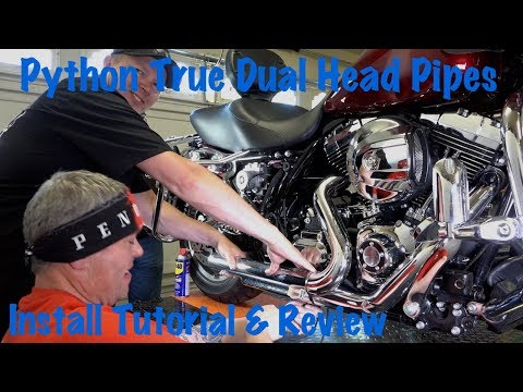 Python True Dual Headpipes For Harley Touring-Install Tutorial & Review