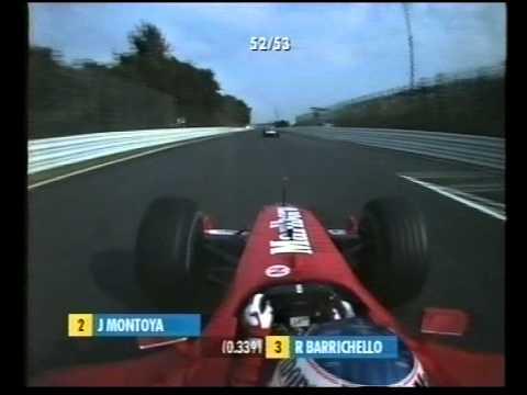 F1 Suzuka 2001 - Rubens Barrichello vs Williams Boys Onboard!