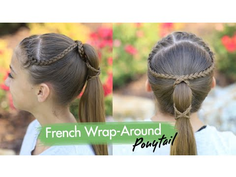 French Wrap-Around Ponytail Cute Girls Hairstyles - YouTube