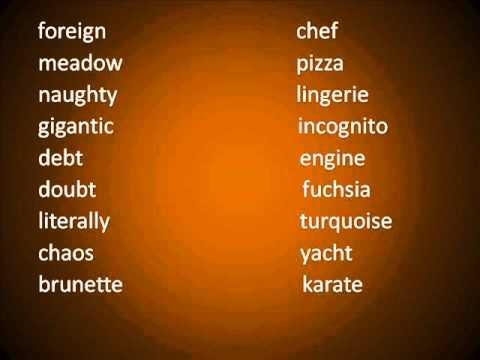 Pronunciación en Inglés 8 [Palabras que Pueden Ser Complicadas Para Pronunciar 1ra. Parte]