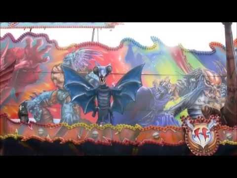 spookhuis Fantasy DriveHeinen impressie en onride Fruehjahrsbend Aachen 2014
