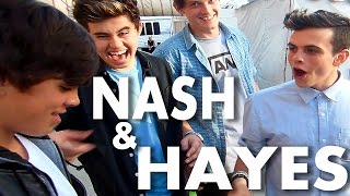 HAYES GRIER DANCING around with STARS NASH GRIER & ANSEL ELGORT over MAGIC |Collins Key