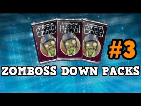 Plants vs Zombies Garden Warfare - *NEW ZOMBOSS DOWN PACKS* Pack Opening - All Characters Unlocked