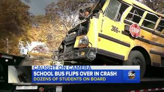 High School Sports Bus Crash Caught on Video