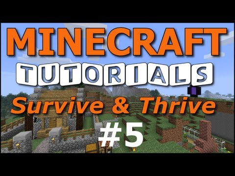 Minecraft Tutorials - E05 Armor and Damage (Survive and Thrive II)