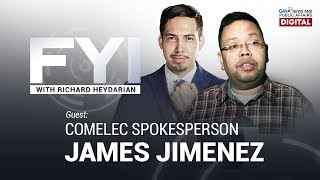 REPLAY: FYI with Richard Heydarian: Interview with Comelec Spox. James Jimenez