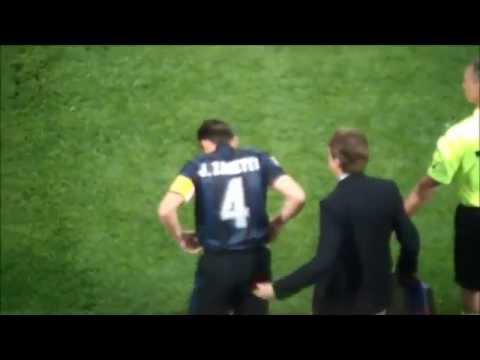 Javier Zanetti. LA LEGGENDA. L'ingresso nell'ultima partita a San Siro