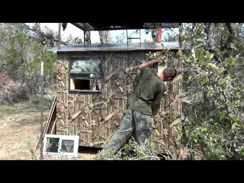 Custom Texas Hunting Blind Building Tips 3/5