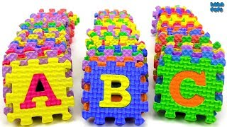 ABC with Squishy Colorful Puzzle Learn alphabets Puzzle Letters Learn A to Z Letters for Kids