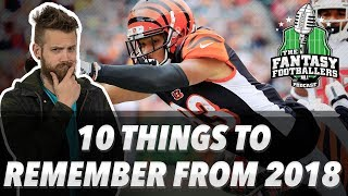 Fantasy Football 2019 - 10 Things to Remember from 2018 + FA Wishing Well - Ep. #694