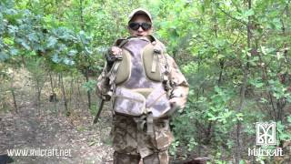 Tactical assault back pack Desert Camo 30 L with logo