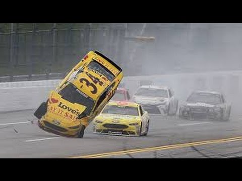 Chris Buescher, Matt Kenseth, And Kevin Harvick Flip In the Geico 500 At Talladega.
