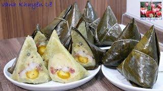 Bánh Ú - Cách làm Bánh Ú nhân mặn thập cẩm, Cách gói Bánh Ú by Vanh Khuyen