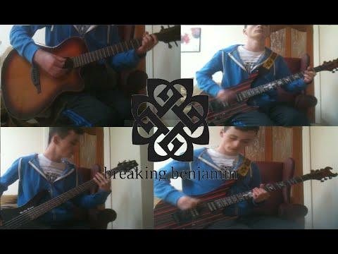 Breaking Benjamin - Angels Fall [full Instrumental: Studio Cover] (guitar   Bass   Drums) [2015] video