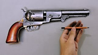 "How I draw a crazy realistic gun ""Fabiano Millani"""