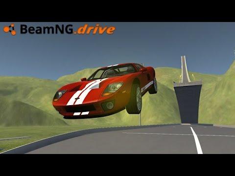 BeamNG.drive - FORD GT CRASH