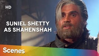 Suniel Shetty as Shehansah | Scenes  | Waqt Hamara Hai | Superhit Bollywood Movie
