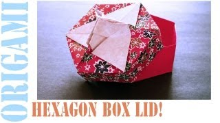 Origami Daily - 447: Hexagon Box Lid Ver 6. (modular 3 Unit) - Tcgames [hd]