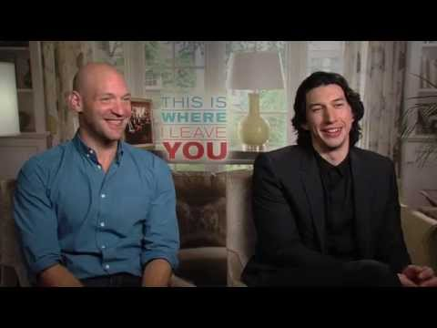This Is Where I Leave You - Adam Driver and Corey Stoll interview