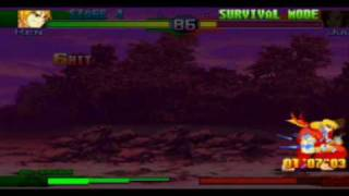 Street Fighter Alpha 3 - Survival mode [ Boss ] speed run